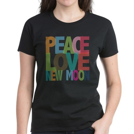 Peace Love New Moon Women's Dark T-Shirt