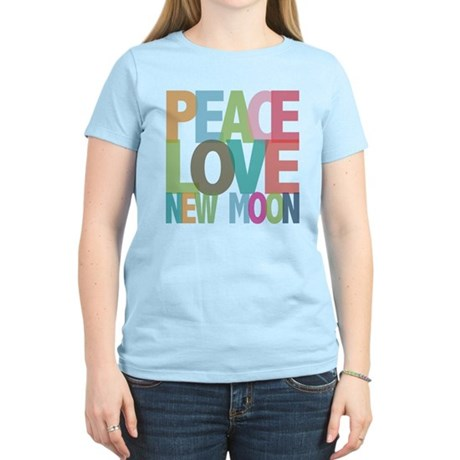 Peace Love New Moon Women's Light T-Shirt