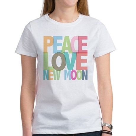 Peace Love New Moon Women's T-Shirt