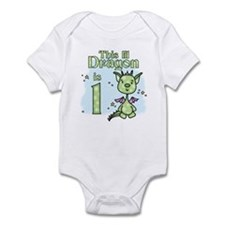 Lil Dragon First Birthday Infant Bodysuit
