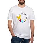 Live Butterflies Fitted T-Shirt