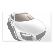 R8 White Rectangle Sticker 10 pk)