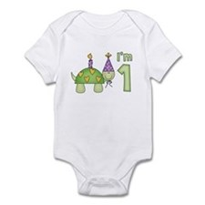 Little Turtle First Birthday Infant Bodysuit