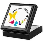 Live Butterflies Keepsake Box