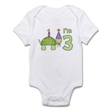 Little Turtle 3rd Birthday Infant Bodysuit