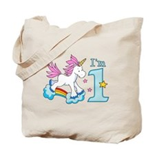 Rainbow Unicorn First Birthday Tote Bag