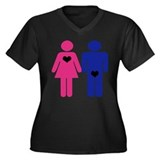 Men Vs. Women Women's Plus Size V-Neck Dark T-Shir
