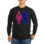 Men Vs. Women Long Sleeve Dark T-Shirt