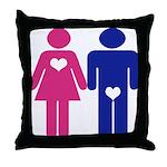 Men Vs. Women Throw Pillow