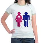 Men Vs. Women Jr. Ringer T-Shirt