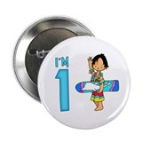 "Surfer Boy First Birthday 2.25"" Button"