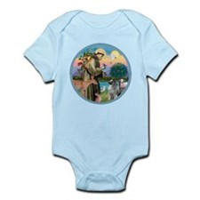 St Francis / Keeshond (#2) Infant Bodysuit