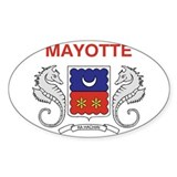 Mayotte Flag Oval Decal
