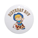 Cowkid's Birthday Boy Ornament (Round)