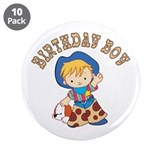 "Cowkid's Birthday Boy 3.5"" Button (10 pack)"