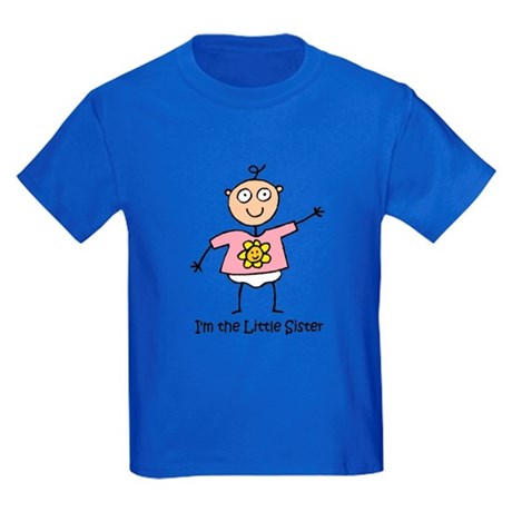 I'm the Little Sister Kids Dark T-Shirt