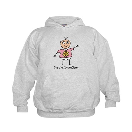 I'm the Little Sister Kids Hoodie