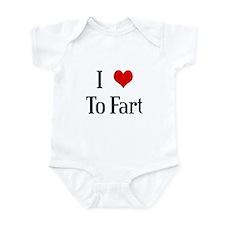 I Heart To Fart Infant Bodysuit