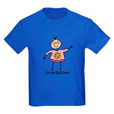 I'm the Big Sister Kids Dark T-Shirt
