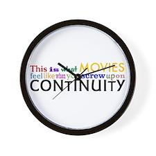 Bad Continuity Wall Clock