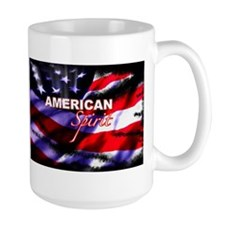 American Spirit TV Large Mug