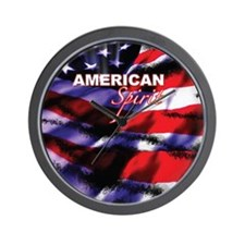 American Spirit TV Wall Clock