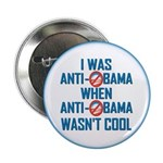 "I was Anti Obama 2.25"" Button (100 pack)"