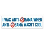 I was Anti Obama Bumper Sticker (50 pk)