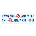 I was Anti Obama Bumper Sticker (10 pk)