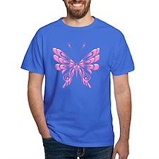 Butterfly Tat Pink (05) T-Shirt