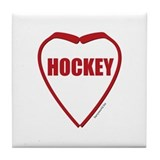 Hockey Love Tile Coaster