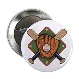 "Mitt & Crossbats 2.25"" Button (10 pack)"