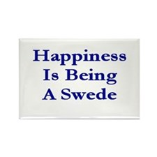 Happiness Is Being A Swede Rectangle Magnet