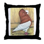 Red Komorner Tumbler Throw Pillow