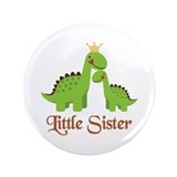 "Little Sister Dino 3.5"" Button (100 pack)"
