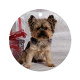 Yorkshire Terrier Holiday Ornament (Round)