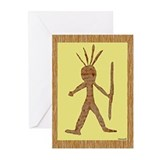 Native American Art, Petroglyph Greeting Cards (Pk