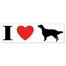 I Heart English Setter Bumper Bumper Sticker