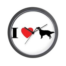 I Heart English Setter Wall Clock