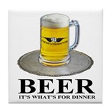 Beer Dinner Tile Coaster
