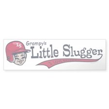 Grampy's Little Slugger Bumper Bumper Sticker
