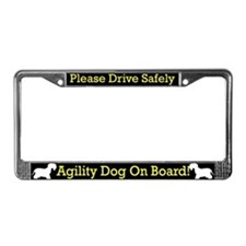 Cesky Terrier Agility Dog License Plate Frame