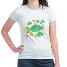 Happy Fish Jr. Ringer T-Shirt