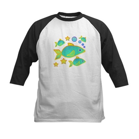 Happy Fish Kids Baseball Jersey