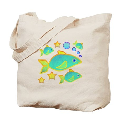 Happy Fish Tote Bag