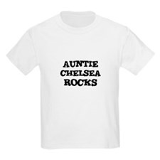 AUNTIE CHELSEA ROCKS Kids T-Shirt