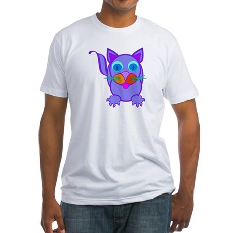 Silly Cat Fitted T-Shirt