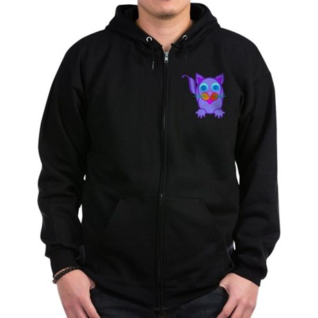 Silly Cat Zip Hoodie (dark)