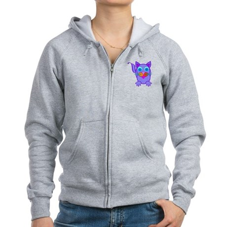 Silly Cat Women's Zip Hoodie