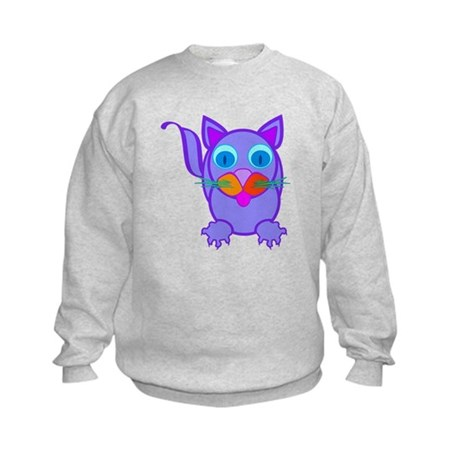 Silly Cat Kids Sweatshirt